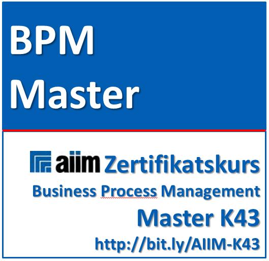 Business Process Management Master (AIIM Zertifikats-Kurs)