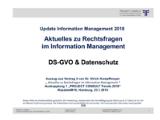 DS-GVO & Datenschutz | Auszug aus Update Information Management 2018