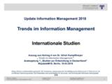 Internationale Studien | Auszug aus Update Information Management 2018