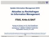 ITSiG, Kritis & BAIT | Auszug aus Update Information Management 2018