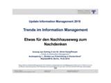 Etwas für den Nachhauseweg zum Nachdenken | Auszug aus Update Information Management 2018
