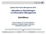 Schriftform | Auszug aus Update Information Management 2018