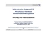 Security und Datensicherheit | Auszug aus Update Information Management 2018