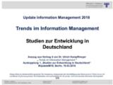 Studien zur Entwicklung in Deutschland | Auszug aus Update Information Management 2018